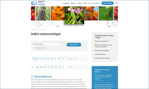 Nutrixeal Info index nutraceutique