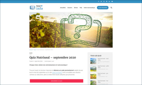 Nutrixeal Info quiz nutraceutique