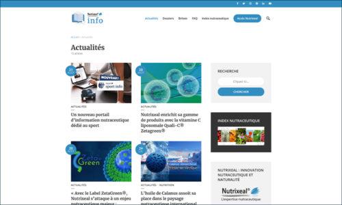 Nutrixeal Info rubrique actualités