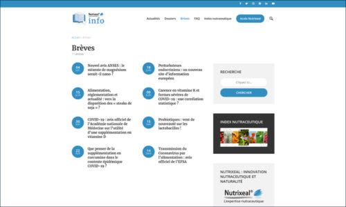 Nutrixeal Info rubrique breves